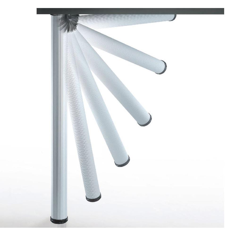 Gambe Pieghevoli Per Tavoli Vendita.Gambe Click 656 Mm 50 Metallo Cm 70 Silver Pieghevoli Ral9006 Op