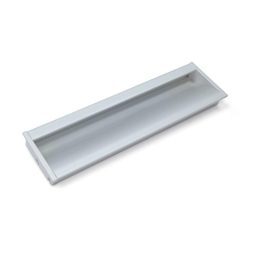 Maniglie Ad Incasso Per Armadi maniglie bologna mm. 190 x 45 alluminio opaco incasso 187 x 41 p 12