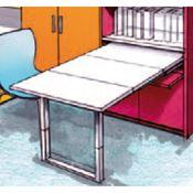 Immagine per la categoria Meccanismi tavoli estraibili a cassetto con gambe