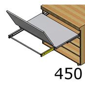 Immagine di tavoli estraibili lunch base  45 bianco modulo spalla 18