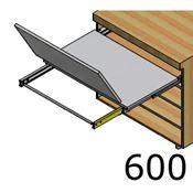 Immagine di tavoli estraibili lunch base  60 bianco modulo spalla 18