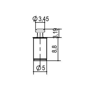 Immagine di portaripiani fixinvi foro 5 cilindrico zinc. c/perno retrattile