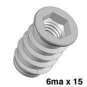 Immagine di bussole c/esagono fe  6ma d.10 x 15 zinc. foro mm. 8 - confezione da  500 pezzi