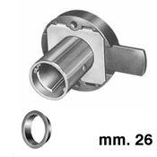 Immagine di serrature extr 915 mm. 26 sx nich. solo corpo s/cilindro