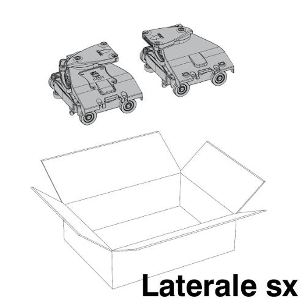 Kit Ante Scorrevoli Complanari.Guarniture Complanari Plano Anta Laterale Sx Porte Ed Ante