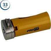 Immagine di seghe tazza click&drill hm mm. 33 multipurpose wood&stone