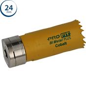 Immagine di seghe tazza click&drill hss+ mm. 24 regolare bimetal steel & metal