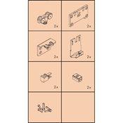 Immagine di guarniture ante scorrevoli clipo 16 h-fs 4p set 1 anta s/binari
