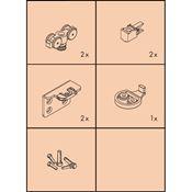 Immagine di guarniture ante scorrevoli clipo 16 h-fs set 1 anta s/binari