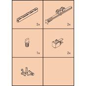 Immagine di guarniture ante scorrevoli clipo 16 hm-is set 1 anta s/binari