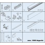 Immagine di = guarniture eku banio 40 gf mm.1500 argento set doccia c/binari