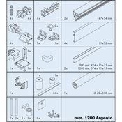 Immagine di = guarniture eku banio 40 gfe mm.1200 argento set doccia c/binari