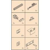 Immagine di guarniture ante scorrevoli regal c26hm is1 set 1 anta s/binari
