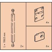Immagine di raddrizza ante eku alluminio cm. 186.3 nat. x ante max cm. 260
