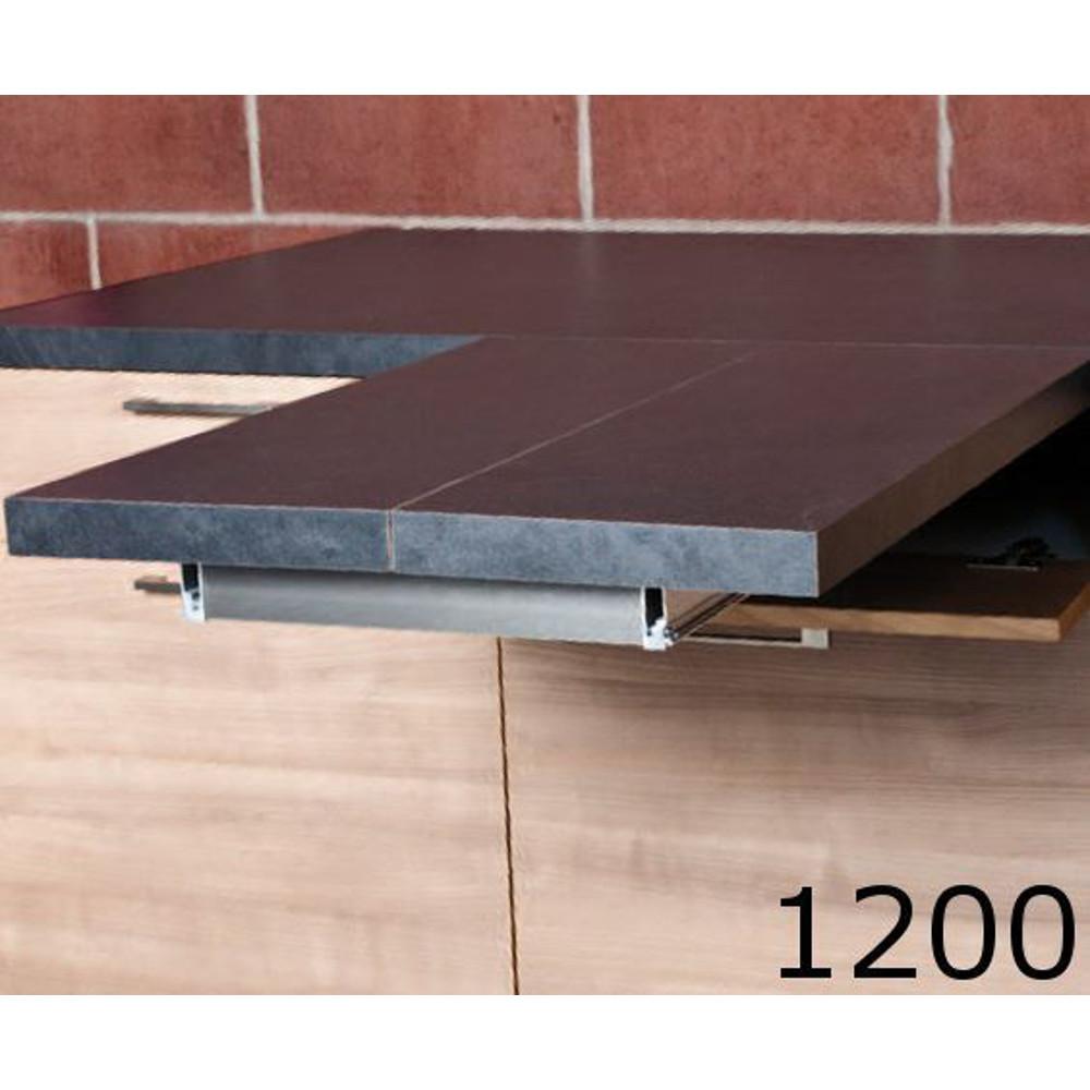 Meccanismi Per Tavoli Allungabili Ferramenta.Meccanismi Tavoli Estraibili Flip Top L 1200 Set 1 Tavolo Guide E