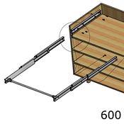 Immagine di meccanismi tavoli estraibili lunch l 600 s/piano c/tappi guide