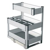 Immagine di Cestelli alluminio portabottiglie 3 piani