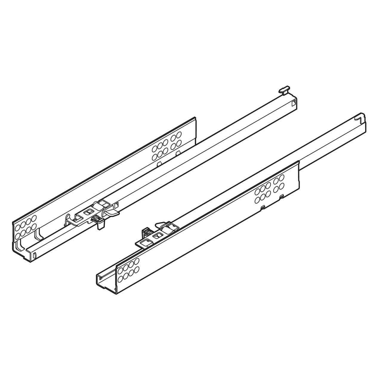 guide blum 551h tandem cm. 41 zinc. c/fermo e regolazione ,guide e ...