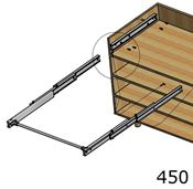 Immagine di meccanismi tavoli estraibili lunch l 450 s/piano c/tappi guide