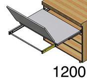 Immagine di tavoli estraibili lunch base 120 bianco modulo spalla 18