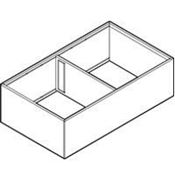 Immagine di divisori ambialine c/f p>=400 l218 nero 2 scomparti