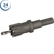 Immagine di seghe tazza endura hm mm. 24 c/punta centraggio co m35