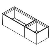 Immagine di divisori cubimax c p422 mix l150 nero set vaschette h122 melamina