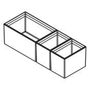 Immagine di divisori cubimax c p422 pure l150 nero set vaschette h122 melamina