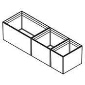 Immagine di divisori cubimax c p472 mix l150 bianco set vaschette h122 melamina