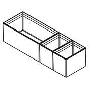 Immagine di divisori cubimax c p472 pure l150 nero set vaschette h122 melamina