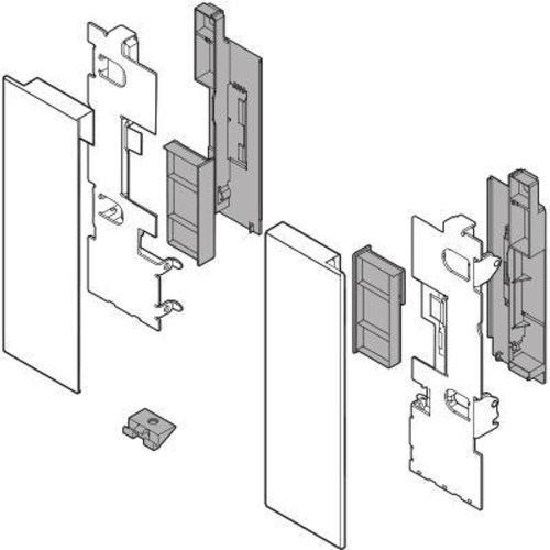 Immagine di attacchi frontali interni con vetro legrabox pure C