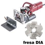 Immagine di fresatrici lamelle zeta p2 c/fresa dia fresa diamantata + dima