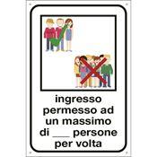 Immagine di cartelli indicazioni alluminio 120x180 2232 ingresso permesso ad un ...