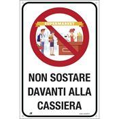 Immagine di cartelli indicazioni alluminio 120x180 2234 non sostare davanti alla ...