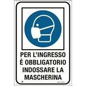 Immagine di cartelli indicazioni alluminio 120x180 2239 per l'ingresso e' ...