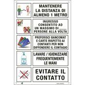 Immagine di cartelli indicazioni alluminio 200x300 35326 mantenere ... ingresso ...