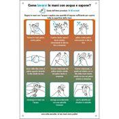 Immagine di cartelli indicazioni alluminio 200x300 35331 come lavarsi le mani ...