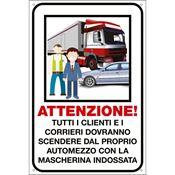 Immagine di cartelli indicazioni alluminio 200x300 35344 attenzione clienti e ...