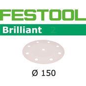 Immagine di dischi abrasivi brilliant d150  8f/120 p150/100 busta 100 dischi