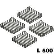 Immagine di cestelli corner compact cesti l 500 cromo luc. set 4 cesti p 410 l 325