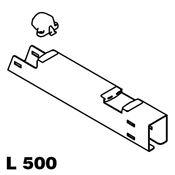 Immagine di cestelli corner compact kit l 500 argento set fissaggio cesti