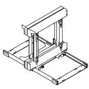 Immagine di cestelli corner compact telai dx/sx argento s/kit - s/cesti