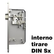 Immagine di serrature kd-comfort standard tirare din sx c/piastra e gaggia inox sat.