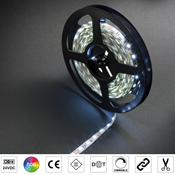 Immagine di strip led mm.10 24v rgb mek 13.0w/m cm.500 60 led/m