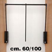 Immagine di appendiabiti servetto 2004 60/100 brown portabiti saliscendi
