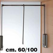 Immagine di appendiabiti servetto 2004 60/100 piombo portabiti saliscendi