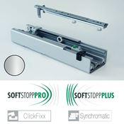 Immagine di colonne clickfixx guide 100 kg. argento telescopica softstop +/pro